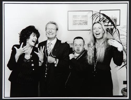 La famiglia Ceccuzzi, ultima a destra Alessandra