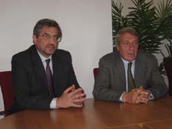 Claudio Merletti, dirigente USP, Gianfranco Bottini, vicepresidente Provincia di Varese