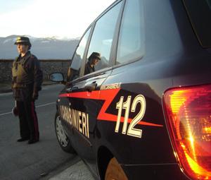 Posto di blocco dei carabinieri di Luino