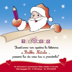 A Varese il Babbo Natale di Arcoiris