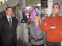 Il professor Ghezzi con Emanuela Crivellaro del CTBO e un fotografo di Neos