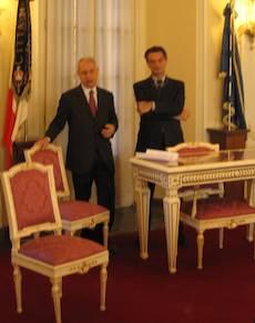 Domenico de Stefano e Attilio Fontana
