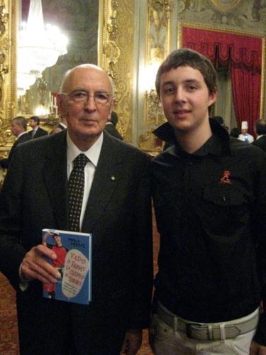 Paolo Crespi con il presidente della Repubblica Giorgio Napolitano