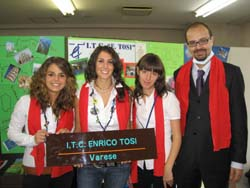 Le tre studentesse dell'Itc Tosi al World School Forum