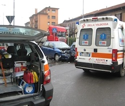 incidente stradale prima