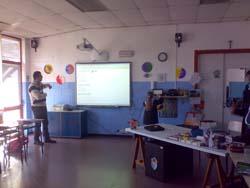 La lavagna multimediale nella scuola di Buguggiate