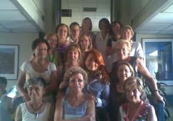 Il gruppo che partecipa al corso del reparto di oncologia al Circolo