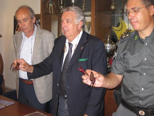 Marco Saroglia, a sinistra nella foto