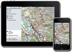 carte geografiche percorsi svizzera ipad