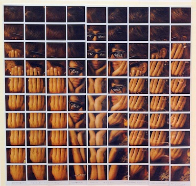 La foto - mosaico di Maurizio Galimberti realizzata per Cà 2010