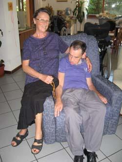 margherita con il fratello Ubaldo a casa Elisa