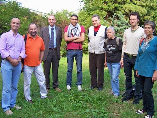 Comitato per la Palestina Varese. Al centro Majed Abusalama