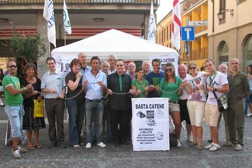 La protesta della Lega Nord