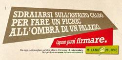 Uno dei cartelloni pubblicitari della campagna