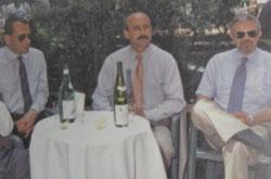 Il professor Cherubino con i colleghi Zatti e Castelli