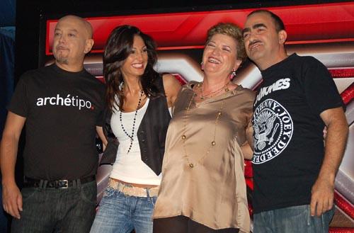 X-Factor: Enrico Ruggeri, Anna Tatangelo, Mara Maionchi, Elio