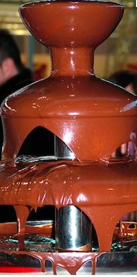 Una fontana di Cioccolato