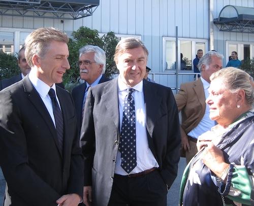 IL presidente di Whirlpool Bracken Darrel e i fratelli Guido e Mivia Borghi