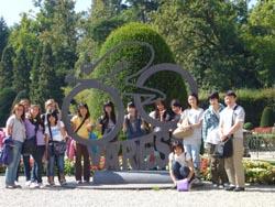 I ragazzi della Kanto di Tokyo in visita ai giardini estensi