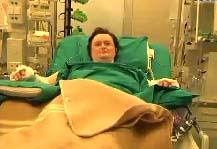 La paziente dopo l'eccezionale intervento al San Gerardo di Monza
