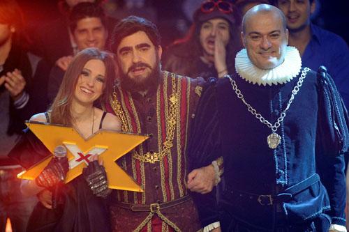 Nathalie ed Elio festeggiano la vittoria ad X Factor