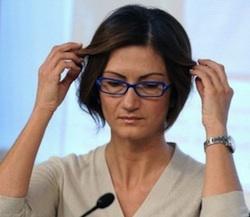 Il Ministro dell'Istruzione Maria Stella Gelmini