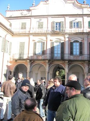 I lavoratori induplas a Palazzo Estense