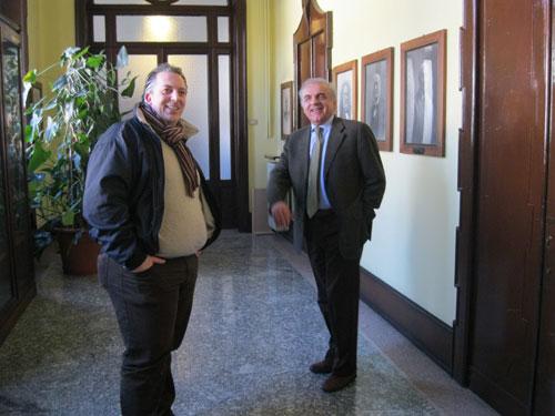 Massimo Pattoni con l'assessore Armiraglio