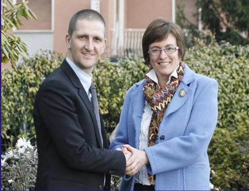 Paolo Mazzucchelli a sinistra