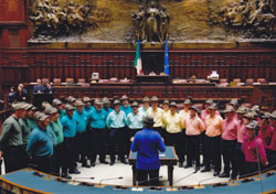 Coro Alpino Orobica in concerto alla Camera dei Deputati di Montecitorio nel dicembre 2008