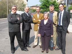 Paolo Costa con la sua squadra
