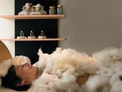 Lana di pecora per riscaldare casa