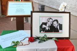 L'allestimento alla memoria di Falcone e Borsellino