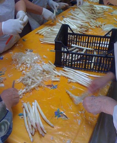 La preparazione degli asparagi