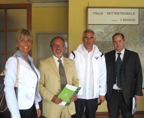 Da sinistra: Paola Della Chiesa, Fausto Oreglio, Stefano Ghiorzo, Dario Galli