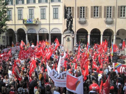 Un momento dello sciopero