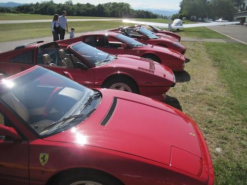 Le Ferrari al Volo a Vela