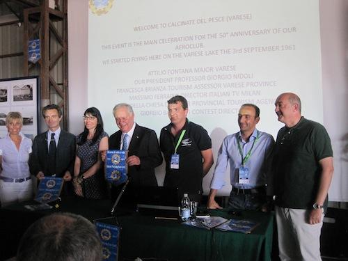 Inaugurazione del Campionato: da sinistra Della Chiesa, Fontana, Brianza, Nidoli, Ballarati, Guidi, Ferrario