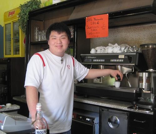 Il barista cinese di saltrio