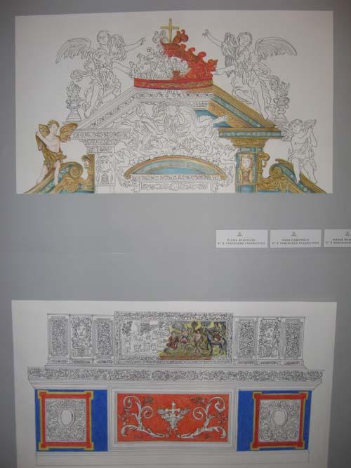 Un particolare dell'altare ligneo di Casorate, rifatto dai ragazzi del Frattini