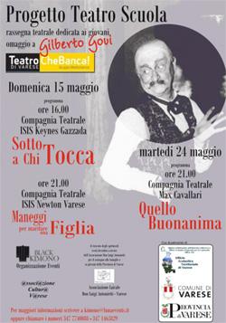 La locandina del Progetto Teatro Scuola