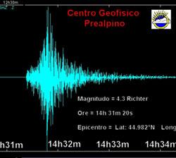 Il sisma del cuneese registrato dal centro geofisico prealpino