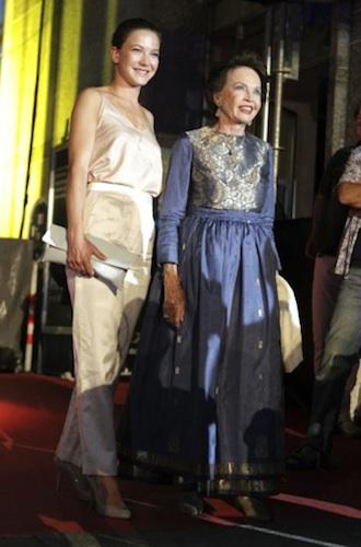 Leslie Caron al festival di Locarno