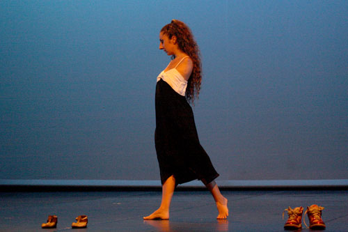 La ballerina Simona Atzori