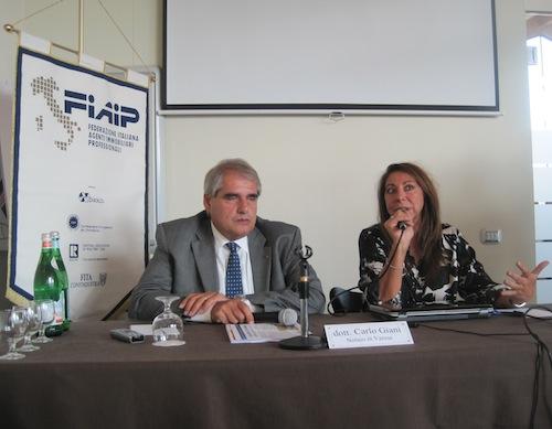 da sinistra: Carlo Giani ed Elisabetta Tafuro