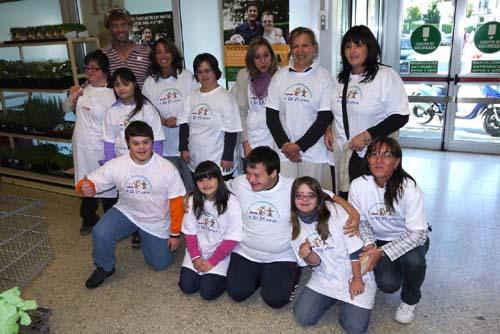 Il gruppo che ha partecipato alla Giornata nazionale della Sindrome di Down