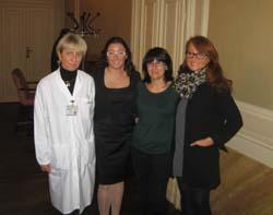 la dottoressa Grande, la professoressa Rovera, Antonietta e Adele patrini