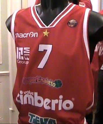 maglia canottiera da gioco cimberio basket 2011/12