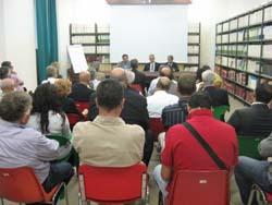 La biblioteca dell'ospedale di Cuasso che ha visto la riunione con i sindaci