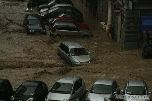 genova alluvione 4 novembre 2011
